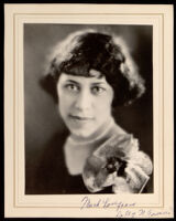 """Portrait of """"Dolly N. Townsend,"""" a friend of the Miriam Matthews family, 1920-1940"""