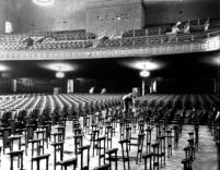 Royce Hall auditorium seat installation, c.1929