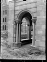 Royce Hall's east side portico, 1930