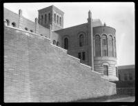 Royce Hall loading ramp, 1928