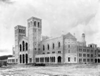 Royce Hall before landscaping, 1928