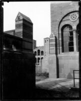 Physics-Biology Building (Humanities Building) with Royce Hall in background, c.1928