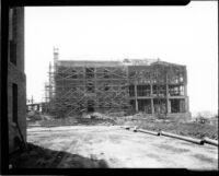 Education Building (Moore Hall) under construction, 1929