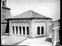 Library (Powell Library) southern octagonal dome viewed from roof, 1928