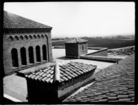 Library (Powell Library) roof view looking south, 1928