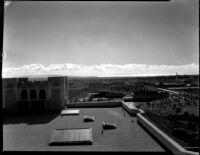Kerckhoff Hall roof view looking south, 1932