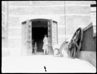 Royce Hall west side loading entrance, c.1929