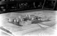 Models of Bridge and first four buildings, c.1927