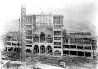 Royce Hall under construction, 1928