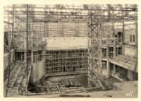 Royce Hall auditorium under construction, 1928