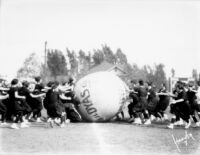 Vermont Avenue campus - Push ball contest, c.1928