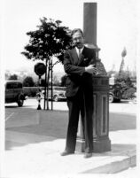 Unidentified man standing in Westwood Village, c.1935