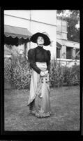 Sorority member (Louise E. Brown) in costume for skit, c.1930