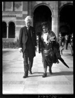 Dedication ceremony - John Arthur Thomson and Mrs. Thomson, 1930