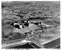 Aerial view of UCLA and Westwood Hills, 1930