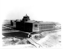Aerial view of Library (Powell Library), c.1930
