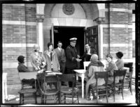 Registration - Sale of student ID cards at Royce Hall, 1930