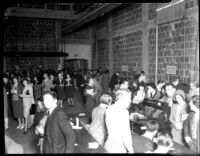Registration in Royce Hall (interior), 1930