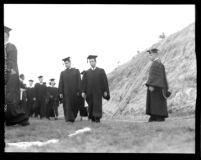 Commencement - Graduates in procession, c.1941
