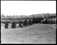 Commencement - Graduates process through audience, c.1941