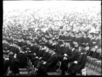 Commencement - Graduates seated, c.1941