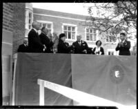 Kerckhoff Hall dedication - Speakers and guests, 1931