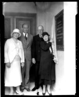 Hershey Hall dedication - Unveiling plaque, 1931