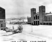 Snowfall on campus - Royce Hall and Esplanade, 1932