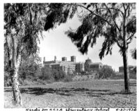 Campus viewed from northwest, 1936