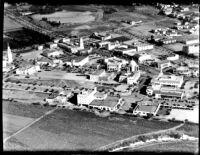 Aerial view of Westwood Village, 1936