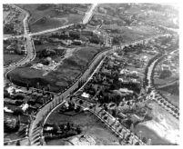 Aerial view of Westwood Hills, 1936