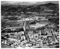 Aerial view of Westwood Village and UCLA, 1938