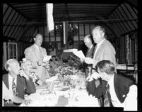 Alumni event at Lake Arrowhead - Dinner singing, 1944