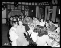 Alumni event at Lake Arrowhead - Dinner, 1944