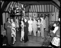 Alumni event at Lake Arrowhead - Dancing, 1944