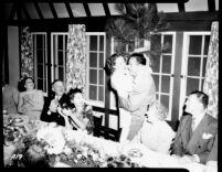 Alumni event at Lake Arrowhead - Dinner pranks, 1944