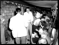 Alumni event at Lake Arrowhead - Drinks on the porch, 1944