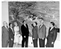 Dedication of Thelner Hoover's aerial photo mural in Student Union Building, 1962