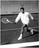 Tennis player Arthur Ashe, c.1965