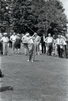 President Dwight D. Eisenhower playing golf