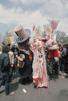 Costumed anti-war demonstrators at the 1971 Vietnam War Out Now protest, Washinton D.C.