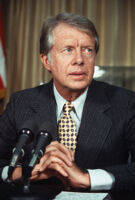 President Jimmy Carter speaks at the White House