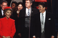 President Ronald Reagan and First Lady Nancy Reagan at Presidential Inauguration, 1981
