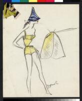 Cashin's illustrations of swimwear and active wear designs. b069_f01-03