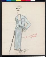 "Cashin illustrations of ""Pilot Pieces"" wardrobe designed for Adler and Adler. f04-02"