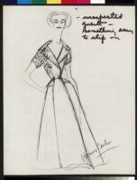 Cashin's illustrations of robe designs. b070_f05-38
