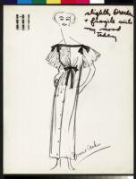 Cashin's illustrations of robe designs. b070_f05-37