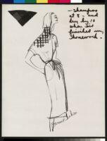 Cashin's illustrations of robe designs. b070_f05-36
