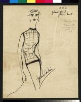 Cashin's illustrations of knit ensembles designed for Guttman Brothers. f01-05