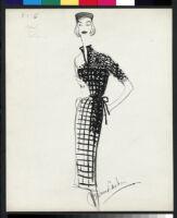 Cashin's illustrations of knit ensembles designed for Guttman Brothers. f07-06